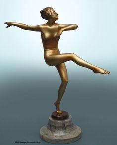 A lovely Art Deco  Austrian bronze figure by Josef Lorenzl, circa 1930.