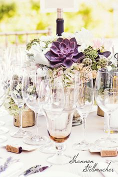 Table Decor with Fleurs de France and St. Francis Winery