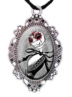"""Sugar Skull Jack"" Cameo by Alkemie Apparel #InkedShop #cameo #jack #NBC #NightmareBeforeChristmas #necklace #jewelry"
