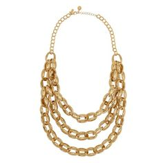 highline gold triple row necklace - kate spade