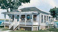 Inlet Cottage : Southern Living House Plan  1269 Sq. Ft    2 Bd, 2 Bth