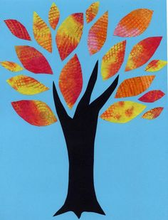 Here's an idea for using leftover textured paper from a Coffee Filter Tree Collage. #artprojectsforkids
