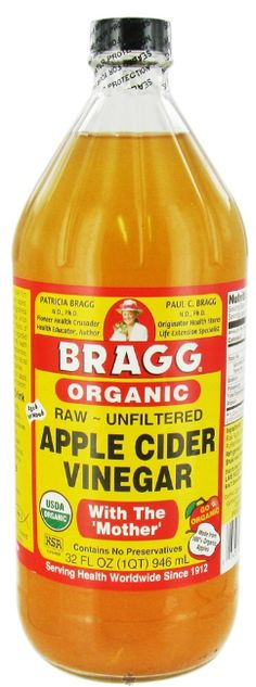 Organic apple cider vinegar.  A natural cure for acne.