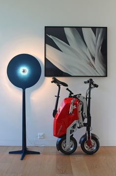Voltitude V1, Art by Martino Coppes, Lamp by Philippe Cramer