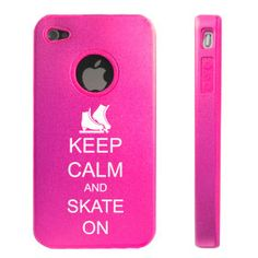 Hot Pink Apple iPhone Keep Calm and Skate On