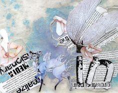 Lara Scarr's mixed media textile art