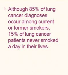 Lung Cancer Awareness Month is November...pass it on.