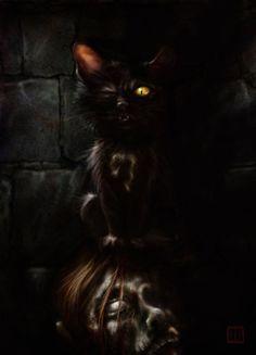 Poe's Black Cat by Steven K. Smith, via Behance