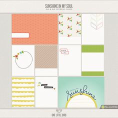 Sunshine In My Soul Journaling Cards by One Little Bird at The Lilypad