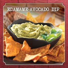 Make your own savory dip in 15 minutes or less. Edamame-Avocado Dip. #recipe #Frenchs #spicybrownmustard #NaturallyAmazing #avocado #salsa #greenonions