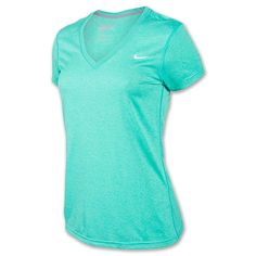 Nike V-Neck Legend Dri-FIT Women's Tee Shirt| FinishLine.com | Atomic Teal