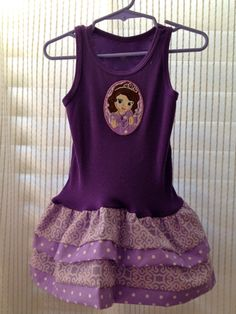 SOFIA THE FIRST Tank Top Dress various sizes by SewHapDesign, $28.00