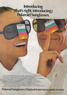 1977! Gosh I remember this ad  and those glasses! Everybody wanted a pair and pretty much everyone you met was wearing a pair. The SAME PAIR!