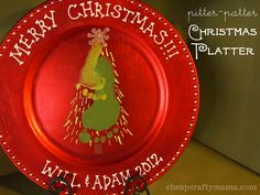 pitter-patter Christmas Platter- only cost $1 to make!