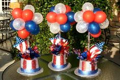 Easy Balloon Centerpiece | July 4th
