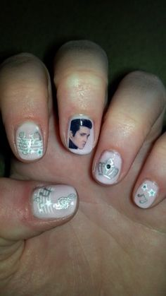 Elvis has left the building....and can now be seen in my manicure.