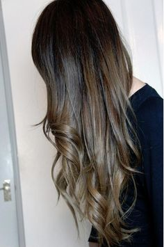 ombre with ash brown