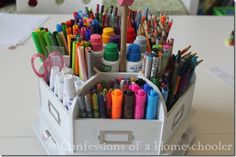 Homeschool supplies organization