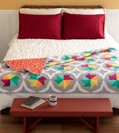Freshly Pieced Modern Quilts: Meet the Vintage Quilt Revival Quilts: Spin It Again vintage quilts, vintage modern quilts, vintag quilt, traditional quilts, vintage quilt revival, pinwheel, bright quilt, traditional quilt blocks