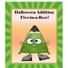 FREE Halloween Addition 5-in-a-Row!  Halloween Addition 5-in-a-Row is a fun way to learn addition facts. Students take turns rolling 2 dice  and ad...
