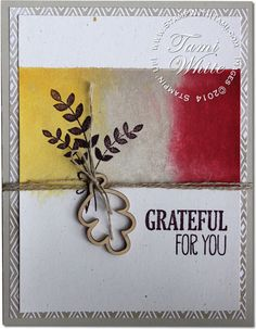Stampin Up Grateful for All Things Card