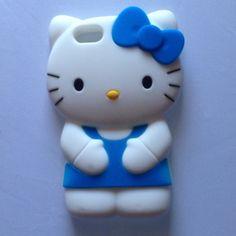 iPhone 5 Hello Kitty Case Blue :)