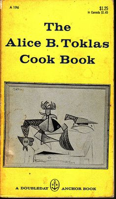 The Alice B. Toklas Cook Book, first published in 1954, is one of the bestselling cookbooks of all time. Written by Alice B. Toklas, writer Gertrude Stein's life-partner, Toklas wrote this book as a favor to Random House to make up for her unwillingness at the time to write her memoirs, in deference to Stein's 1933 book about her, The Autobiography of Alice B. Toklas. This work is as much of an autobiography as it is a cookbook, in that it contains as many personal recollections as it does recip