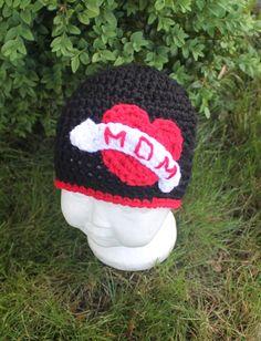 Mom Tattoo Baby Hat MADE TO ORDER Handmade by HookedByNurseSharon, $16.00