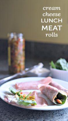 Gluten-free cream cheese lunch meat rolls