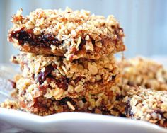 Cherry Oat Bars-glut