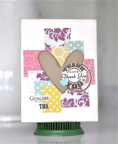 There goes Charlene again. Creating a cool card AGAIN. This time, she used the THX Seal set from TechniqueTuesday.com to do her stamping.