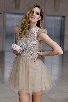 pearls & tulle in nude