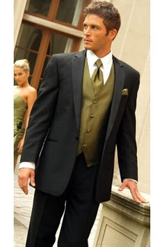 Tuxedo shown with fern vest & tie - only available @www.tuxedojunction.com