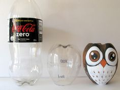 owl from a coke bottle and other cool upcycle projects!! (Blog has translate button)