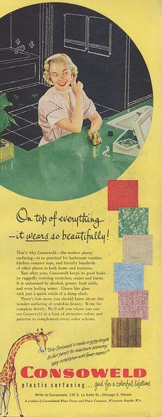 Consoweld laminate, 1952