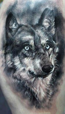 Domantas Parvainis Wolf Tattoo #tattoo