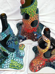 botellas de trencadis