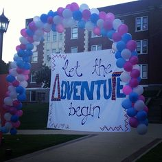 Banner & Balloons on bid day!
