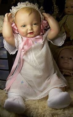 "23"" Composition Doll Bubbles Effanbee Compo Composite Huge Doll Antique Fully Restored"