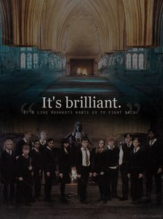 Hogwarts wants us to fight back.