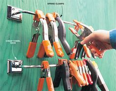 Keep your spring clamps springy for a lifetime! Don't store them clamped on a board; the springs will lose their tension. Instead, keep them on a metal towel rod ($3 at a home center).