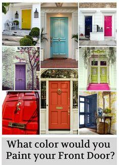 red doors, green doors, hot pink front door, back doors, old screen doors