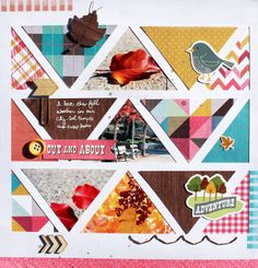 Out & About *American Crafts DT by myfrogprince at @Studio_Calico: would be sweet with similar pics, making two chevron stripes.