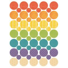 Petit Collage Petit Circles. Reusable fabric wall decals. Polka dot your bedroom!