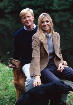 A young and beautiful King Willem-Alexander and Queen Maxima of the Netherlands