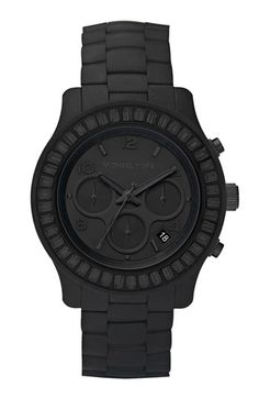michael kors runway silicone & baguette watch - $225.00. i don't wear a watch, but if i did, it would be this one.