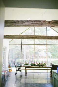 Great use of reclaimed timbers.  Floating Farmhouse, a renovated farmhouse by architect Tom Givone.  #reclaimedwood