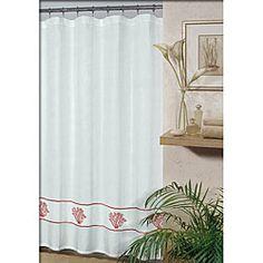 Westone Coral Shower Curtain Idea
