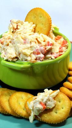 "Smoked Pimento Cheese Dip  Easy to make and a delicious Southern classic... This is a simple measure and mix ""dip"" or sandwich spread.  Perfect as a dip, spread, hostess gift, or welcome addition to a Holiday buffet.  The taste is addictive and sure to be a favorite among family and friends... and did I say EASY.  The payoff for the amount of work is worth all the effort to make fresh!"