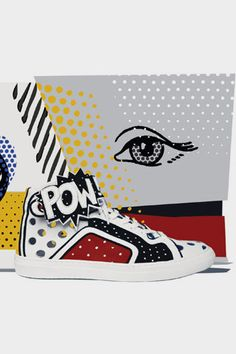fashion, pop art, pierr hardi, edit sneaker, sneakers, shoe, limit edit, roy lichtenstein, hardi poworama